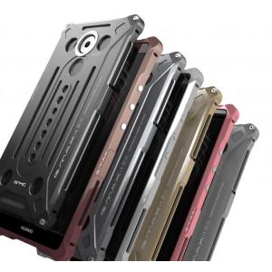 Цельнометаллический противоударный металлический чехол из авиационного алюминия на винтах с мягкой внутренней защитной прослойкой для гаджета с прямым доступом к разъемам для Huawei Mate 8