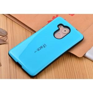 Силиконовый эргономичный непрозрачный чехол с нескользящими гранями для Huawei Mate 8 Голубой