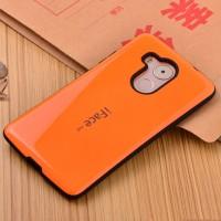 Силиконовый эргономичный непрозрачный чехол с нескользящими гранями для Huawei Mate 8 Оранжевый