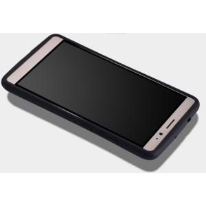 Силиконовый эргономичный непрозрачный чехол с нескользящими гранями для Huawei Mate 8 Черный