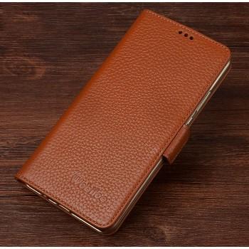 Кожаный чехол портмоне подставка (нат. кожа) с магнитной защелкой для Huawei Mate 8