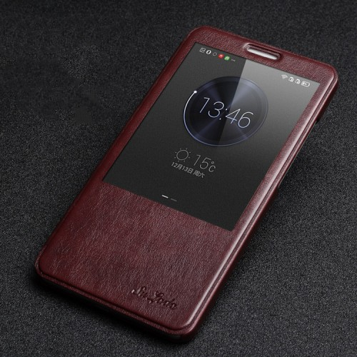 Чехол флип подставка на пластиковой основе с окном вызова для Huawei Mate 8