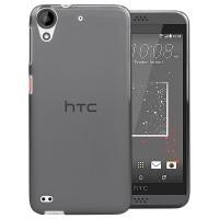 Силиконовый матовый полупрозрачный чехол для HTC Desire 530/630 Черный