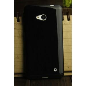 Силиконовый глянцевый непрозрачный чехол для Microsoft Lumia 640 Черный