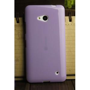 Силиконовый глянцевый непрозрачный чехол для Microsoft Lumia 640 Фиолетовый