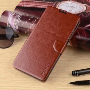 Чехол портмоне подставка на силиконовой основе с магнитной защелкой для HTC Desire 530/630 Коричневый