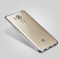 Силиконовый матовый полупрозрачный чехол текстура Металлик для Huawei Mate 8 Серый