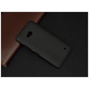 Пластиковый матовый непрозрачный чехол для Microsoft Lumia 640 Черный