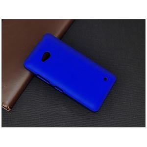 Пластиковый матовый непрозрачный чехол для Microsoft Lumia 640 Синий