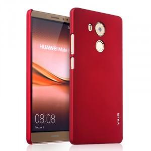 Пластиковый матовый непрозрачный чехол для Huawei Mate 8 Красный
