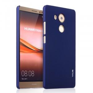 Пластиковый матовый непрозрачный чехол для Huawei Mate 8 Синий