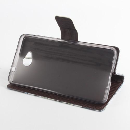 Дизайнерский чехол портмоне подставка с полноповерхностным принтом и застежкой для Microsoft Lumia 650
