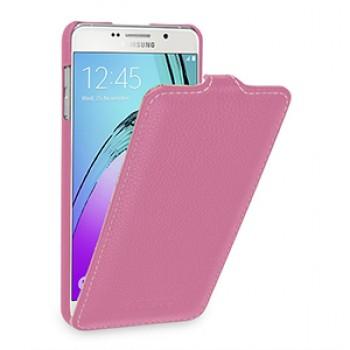 Кожаный чехол вертикальная книжка (нат. кожа) для Samsung Galaxy A7 (2016)
