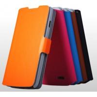 Тонкий чехол флип-подставка с застежкой для LG L90