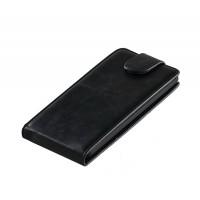 Чехол вертикальная книжка с застежкой для LG L90 Черный