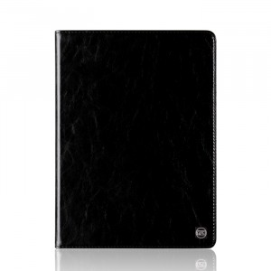 Вощеный кожаный чехол подставка на силиконовой транспарентной основе для Huawei MediaPad M2 10