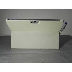 Оригинальный кожаный смарт чехол подставка на поликарбонатной основе для Huawei MediaPad M2 10 Белый