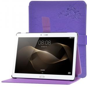 Чехол подставка текстурный на пластиковой основе с магнитной защелкой для Huawei MediaPad M2 10 Фиолетовый