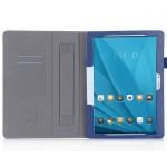 Чехол книжка подставка с рамочной защитой экрана, отделениями для карт и поддержкой кисти для Huawei MediaPad M2 10