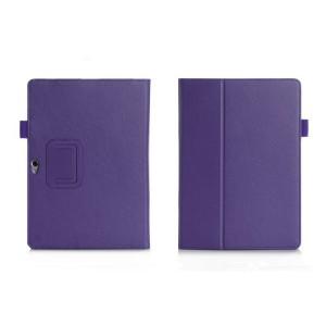 Чехол книжка подставка с рамочной защитой экрана, отделениями для карт и поддержкой кисти для Huawei MediaPad M2 10 Фиолетовый