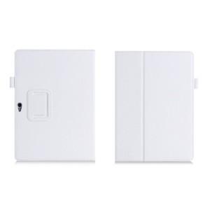 Чехол книжка подставка с рамочной защитой экрана, отделениями для карт и поддержкой кисти для Huawei MediaPad M2 10 Белый