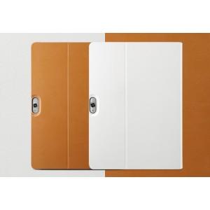 Оригинальный кожаный смарт чехол подставка на поликарбонатной основе для Huawei MediaPad M2 10