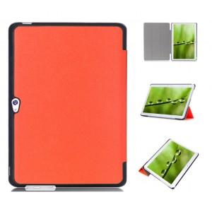 Чехол подставка сегментарный на поликарбонатной основе для Huawei MediaPad M2 10 Оранжевый