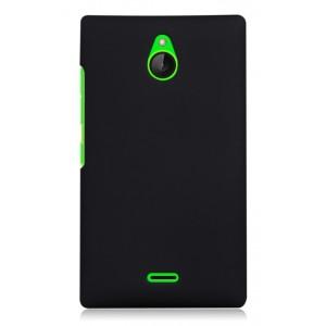 Пластиковый чехол для Nokia X2 Черный