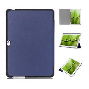 Чехол подставка сегментарный на поликарбонатной основе для Huawei MediaPad M2 10 Синий