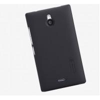 Пластиковый матовый премиум чехол для Nokia X2 Черный
