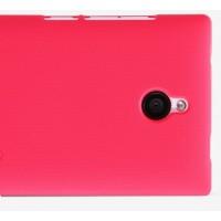 Пластиковый матовый премиум чехол для Nokia X2 Красный
