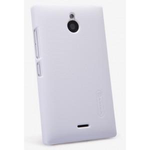 Пластиковый матовый премиум чехол для Nokia X2 Белый