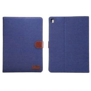 Чехол портмоне подставка с застежкой и тканевым покрытием для Ipad Pro 9.7 Синий