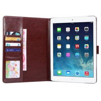 Чехол портмоне подставка с застежкой и тканевым покрытием для Ipad Pro 9.7 Черный