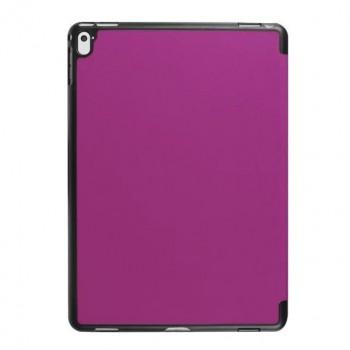 Чехол флип подставка сегментарный на поликарбонатной основе для Ipad Pro 9.7 Фиолетовый