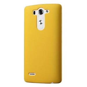 Пластиковый чехол серия Metallic для LG G3 S Желтый
