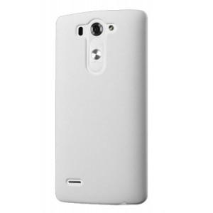 Пластиковый чехол серия Metallic для LG G3 S Белый