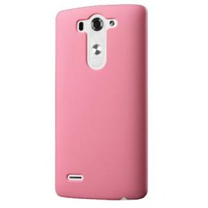 Пластиковый чехол серия Metallic для LG G3 S Розовый