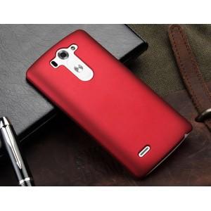 Пластиковый чехол серия Metallic для LG G3 S Красный