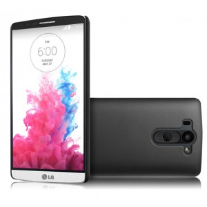 Пластиковый чехол серия Metallic для LG G3 S Черный