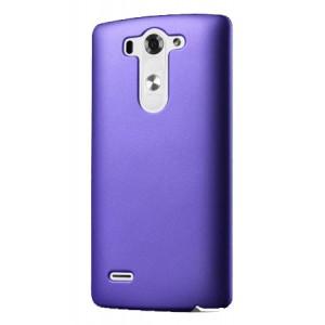 Пластиковый чехол серия Metallic для LG G3 S Фиолетовый