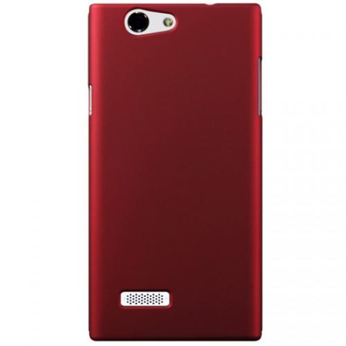 Пластиковый чехол серия Metallic для ZTE Blade L2 Dual Красный