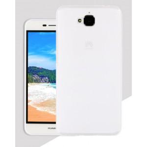 Силиконовый матовый полупрозрачный чехол для Huawei Honor 4C Pro Белый