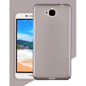 Силиконовый матовый полупрозрачный чехол для Huawei Honor 4C Pro Черный