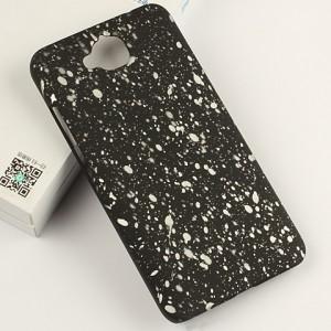 Пластиковый матовый дизайнерский чехол с голографическим принтом Звезды для Huawei Honor 4C Pro
