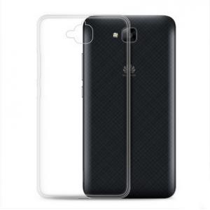 Силиконовый глянцевый транспарентный чехол для Huawei Honor 4C Pro