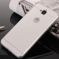 Двухкомпонентный чехол с металлическим бампером и поликарбонатной накладкой для Huawei Honor 4C Pro Белый