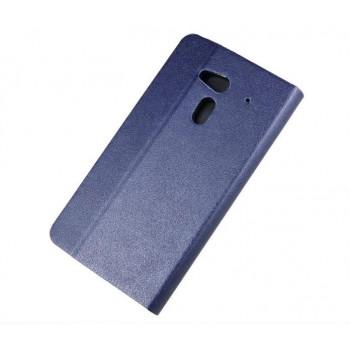 Чехол флип подставка на пластиковой основе с внутренними карманами для Acer Liquid E3 Синий