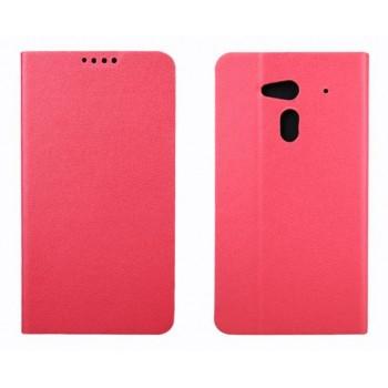 Чехол флип подставка на пластиковой основе с внутренними карманами для Acer Liquid E3 Розовый