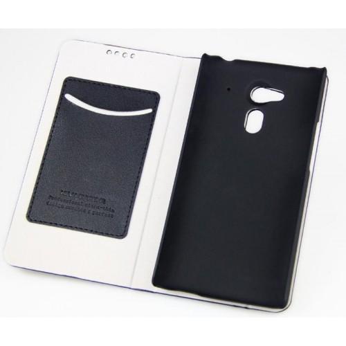 Чехол флип подставка на пластиковой основе с внутренними карманами для Acer Liquid E3 Черный